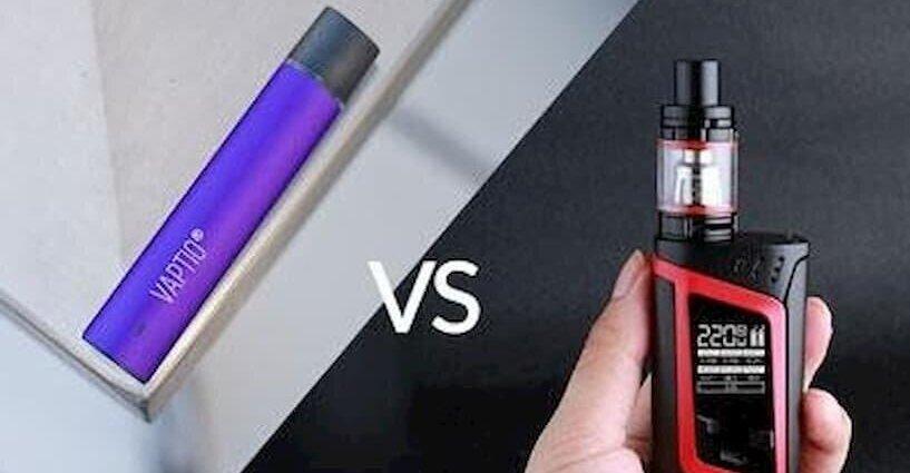 บุหรี่ไฟฟ้า Pod system กับ Mod แตกต่างกันอย่างไร